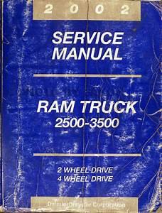 2002 Dodge 2500 3500 Ram Pickup Truck Original Owner U0026 39 S