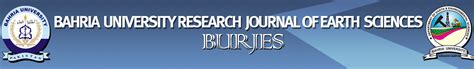 bahria research journal of earth sciences burjes