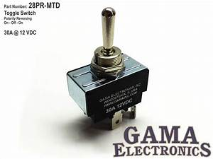 30 Amp Toggle Switch Polarity Reversing Dc Motor Control
