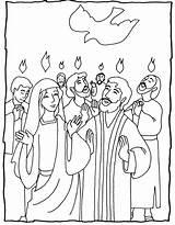 Pentecost Coloring Pages Sunday Bible Catholic Crafts Church Children Activities Biblekids Eu sketch template