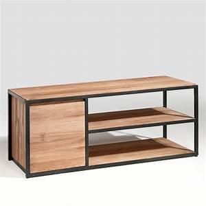 Meuble Bas Bois : meuble bas tv bois et m tal stricto am pm la redoute home sweet home pinterest meuble ~ Teatrodelosmanantiales.com Idées de Décoration