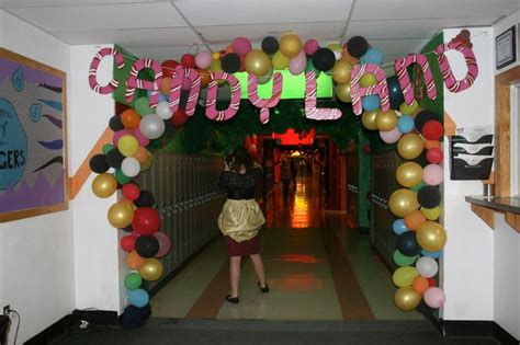 hallway decorating picture  candyland hallway