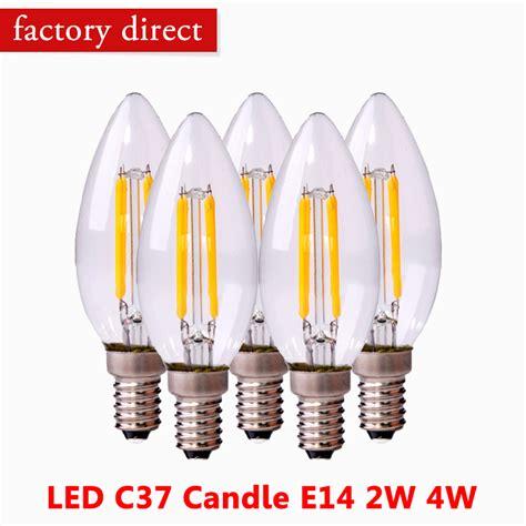 led filament bulb e14 candle lightbulb cool white warm