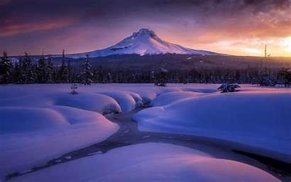 Winter Water Snow Mountains Layer Hood Current