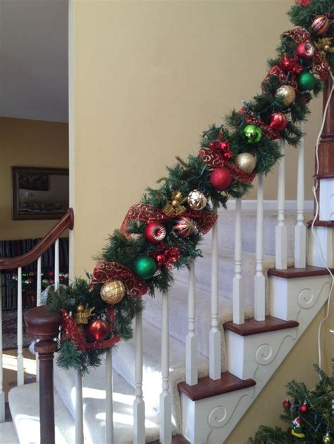 28 best stairway garland for christmas staircase