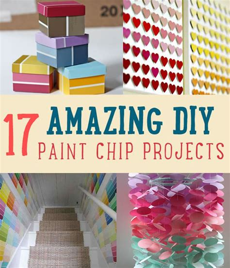 17 Amazing Diy Paint Chip Projects Diy Ready