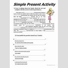 Simple Present Activity Worksheet  Free Esl Printable Worksheets Made By Teachers