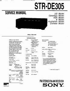 Sony Str-de305  Str-de310 Service Manual