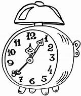 Clock Coloring Alarm Pages Epic Coloringpagesfortoddlers Sheets Clocks Amazing Craft Dari Disimpan sketch template