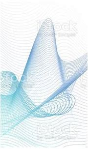 Turquoise Blue Beige Twisted Lines On White Background ...
