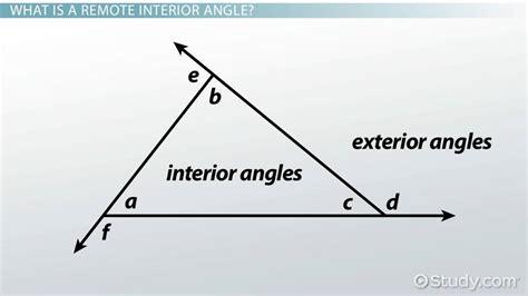 remote interior angles remote interior angles definition exles