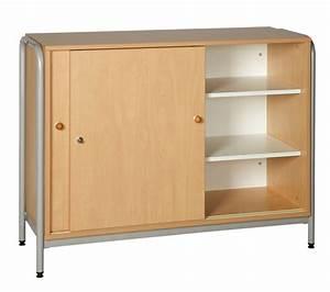 dpc scolaire salle de cours meuble bas avec 2 portes With porte coulissante pour meuble bas