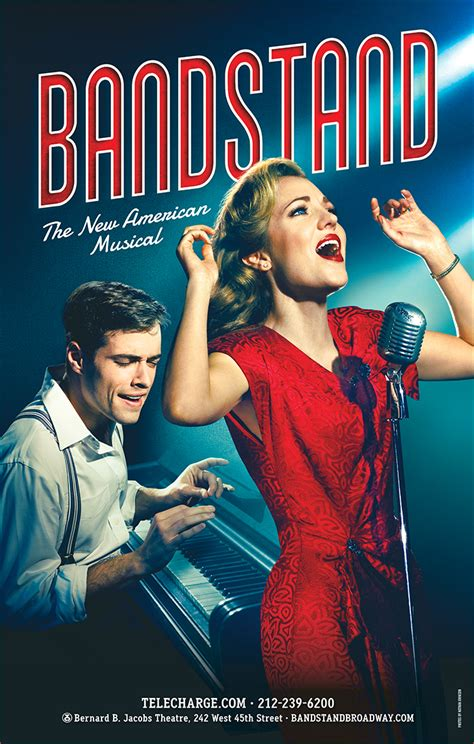 Cast members from the broadway musical, bandstand, with special guests robert taylor and richard oberacker, perform songs. Bandstand the New American Broadway Musical Poster - Posters/Window Cards | PlaybillStore.com
