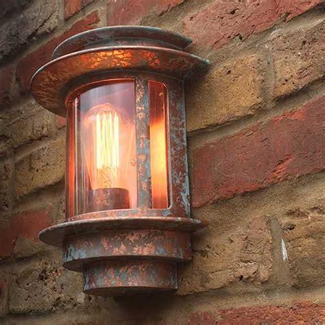 verdigris copper paint effect to garden wall lights