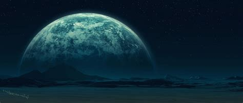 Горы Планета поверхность спутник звезды. Обои для Андроид