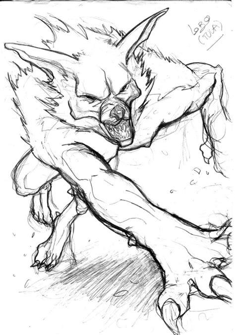 Hombre lobo para colorear | Colorear imágenes