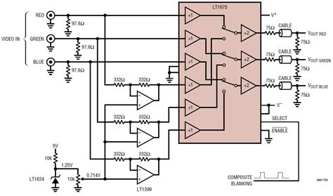 Rgb Video Inverter Circuit Collection Analog Devices