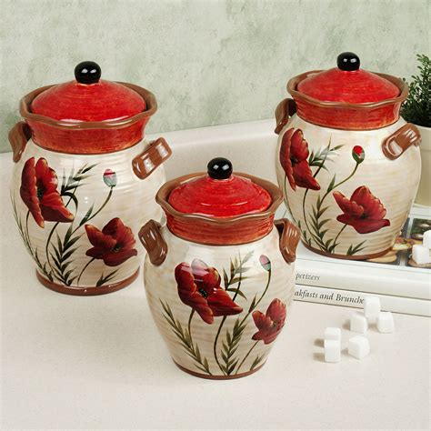 designer kitchen canister sets poppies kitchen canister set kitchen theme ideas