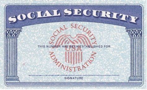 Social Security Card Template Psd