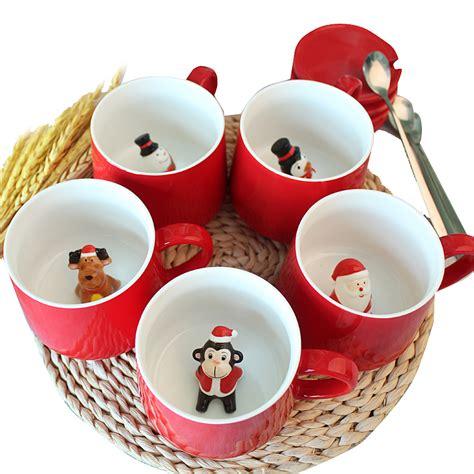 ?Christmas Gift Mug Stereo 3D ? Animal Animal Lovers Coffee milk Creative ? ceramics ceramics