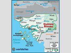 GuineaBissau Map Geography of GuineaBissau Map of
