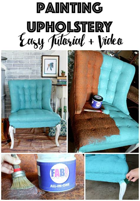 Paint For Upholstery by Painting Fabric Upholstery Using New Product Fab That