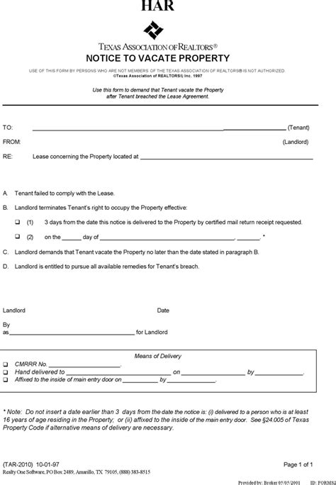 free eviction forms texas sle eviction notice texas eviction notice form texas