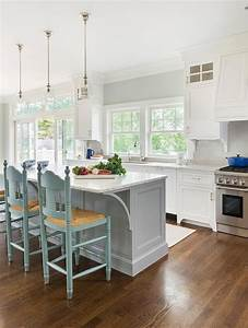 turquoise blue counter stools with rush seats cottage With what kind of paint to use on kitchen cabinets for coastal living wall art