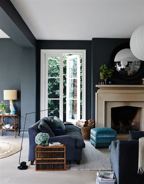 Blue Gray Paint In Living Room by 20 Living Room With Fireplace That Will Warm You All