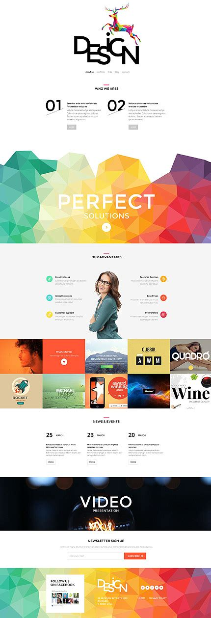 parallax website template creative parallax scrolling website templates of 2015 entheos