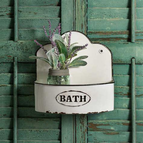 sale white enamel bath wall caddy emory valley mercantile