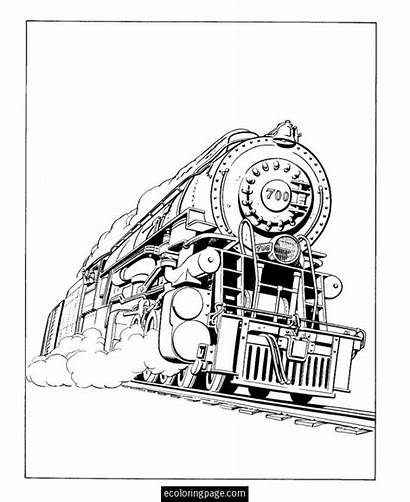 Coloring Steam Locomotive Train Pages Trains Engine