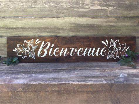 Bienvenue! Or welcome in french is the perfect little way ...