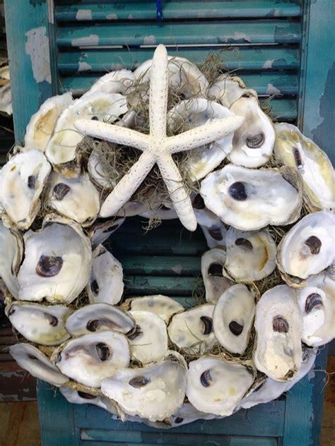 oyster shell wreath  travelersrestfarm  etsy cute