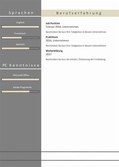 Moderner Lebenslauf 2017 by Moderne Lebensl 228 Ufe Lebenslauf Quot Attention Quot Als