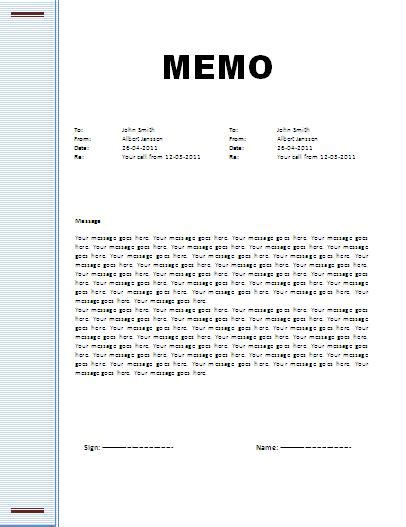 Memo Template by Memo Template Professional Word Templates