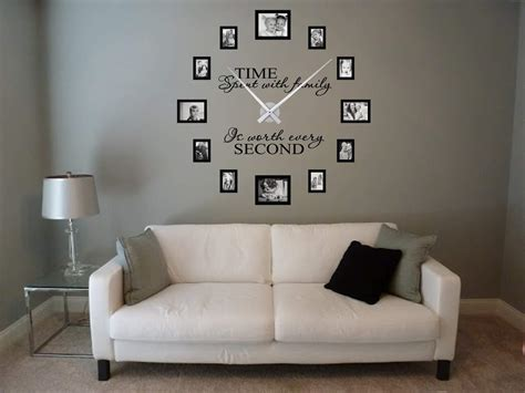 Time Spent Picture Frame Clock Large