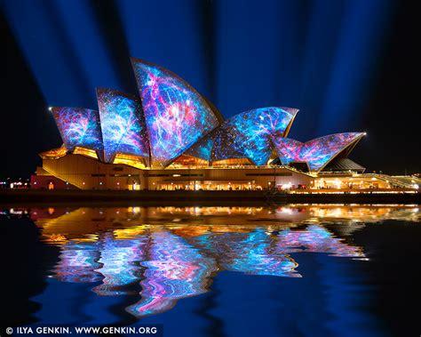 vivid sydney  lighting   sails print