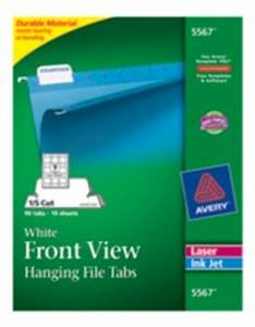 hanging file tabs 1 5 cut With 5 tab cut labels