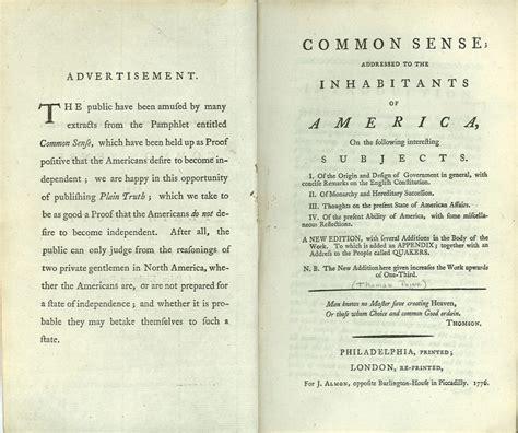 Common Sense  Museum Of The American Revolution