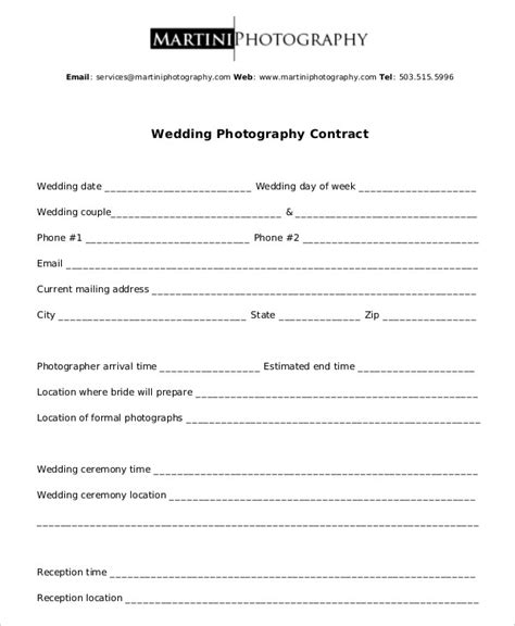 photography contract    word  documents