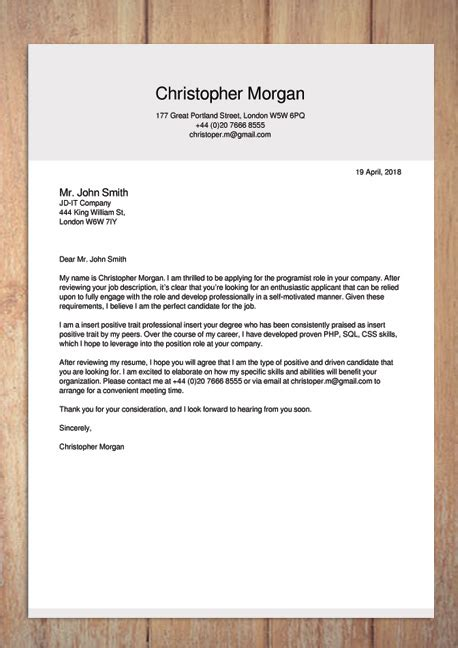 How To Make A Cover Letter Free by Creator Cover Letter Template