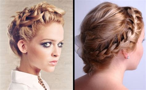 Short Braided Hairstyles Pinterest Bridesmaid Hairstyles For Naturally Curly Hair Round Face Short Pictures Layered Thin Easy Long Work Natural Black Pinterest Up Styles African American Quick And