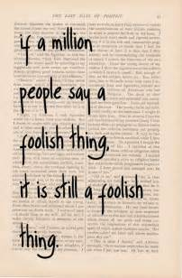 Foolish Person Quotes
