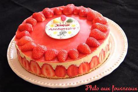 cuisine couleur framboise recette de fraisier par philo