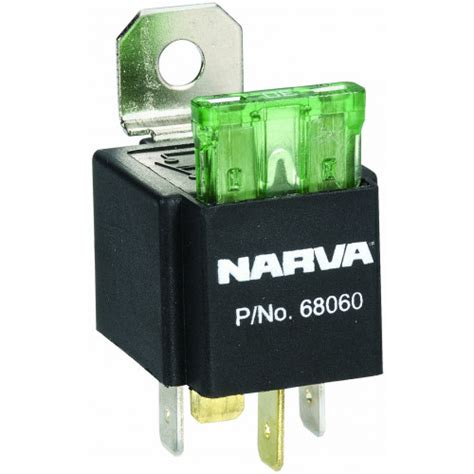 narva fused relay 12v 4pin 30a
