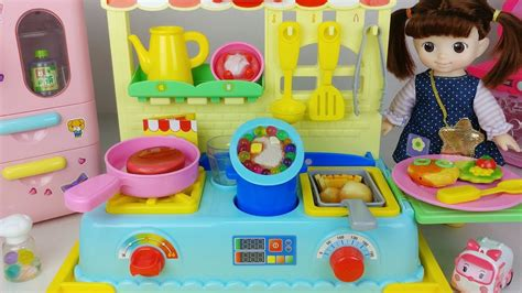 baby doll kitchen  food cooking toys play