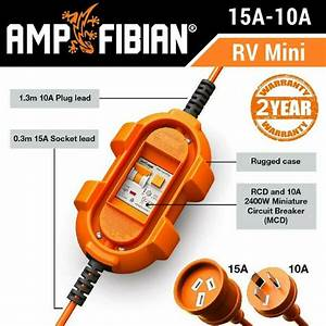Ampfibian Mini 15a To 10a Converter    Adapter  U0026 Rcd For