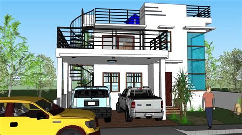 modern  storey house design  roof deck design  home