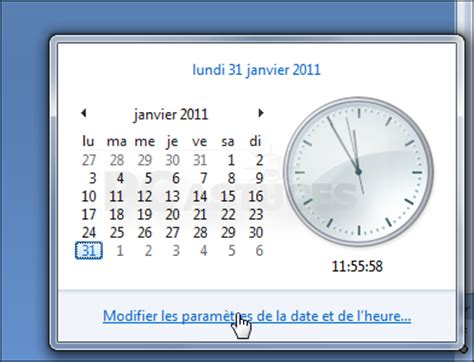 horloge bureau windows comment afficher l horloge sur le bureau windows 7